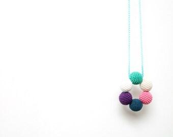 Forest Fairy Nursing necklace, Breastfeeding necklace, Teething toy , Babywearing necklace