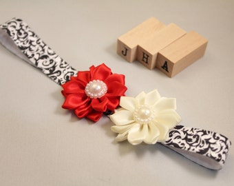 Newborn/baby/children/flower girl headband - Damask