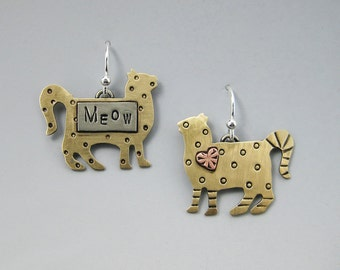 Kitty Earrings, Cat Earrings, Cat Jewelry, Kitty Jewelry, RP0300ER
