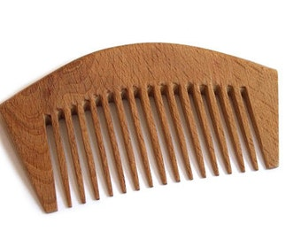 Wooden comb with thin tooth.  Handmade wooden accessories.