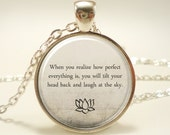 Buddha Quote Necklace, Motivational Wisdom Pendant, Inspirational Yoga Jewelry (1736S1IN)