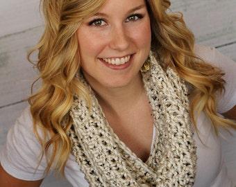 Chunky Infinity Crochet Scarf