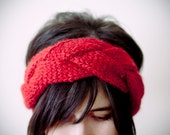 turban, CHOOSE ONE COLOR, alpaca and acrylic knitted turkhead knot headband