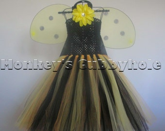 Bumblebee Tutu Dress Set - Large - Ready to Ship
