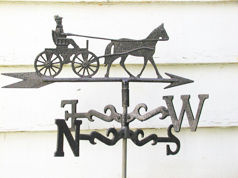Vintage Weather Vane: Vintage Weather Vane Horse Carriage Barn Fresh Weathervane
