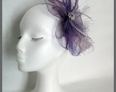Kentuky Derby Hat / Fascinator hat / Purple Fascinator/  Lilac fascinator / Wedding Fascinator