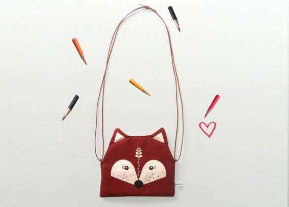 Scandinavian Retro fox purse bag children