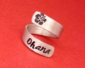 Ohana - A Hand Stamped Aluminum Wrap Ring