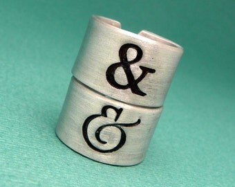 Ampersand - Choose One Hand Stamped Aluminum Ring