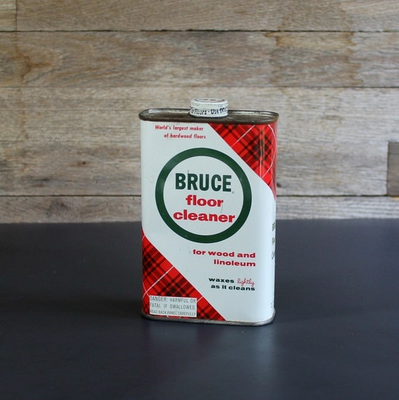 Vintage Bruce Floor Cleaner Can Dated 1961 Vintage Household