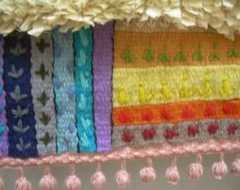 Wall Tapestry, fiber art wall hanging, textil sculpture, ROSSETTE