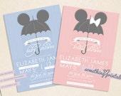 Umbrella - Printable DIY Baby/Bridal Shower Invitation Design
