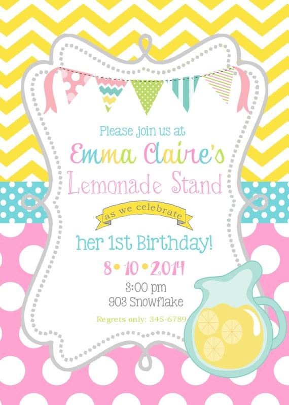 Lemonade Invitations Related Keywords & Suggestions - Pink Lemonade ...