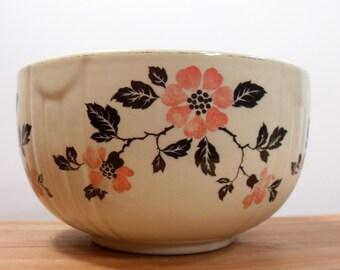 Hall's Superior Kitchenware Bowl Poppy Mid-Century, Vintage Hall's Bowl, Vintage Kitchen