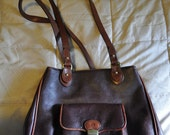Vintage Etienne Aigner rich burgundy and light brown pebbled leather purse