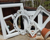 Shabby Chic PICTURE FRAMES -   Open Picture Frame Set - Ornate Frames