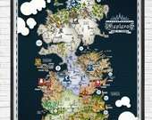 Game of Thrones - Westeros Map - - - A1 - - - Poster