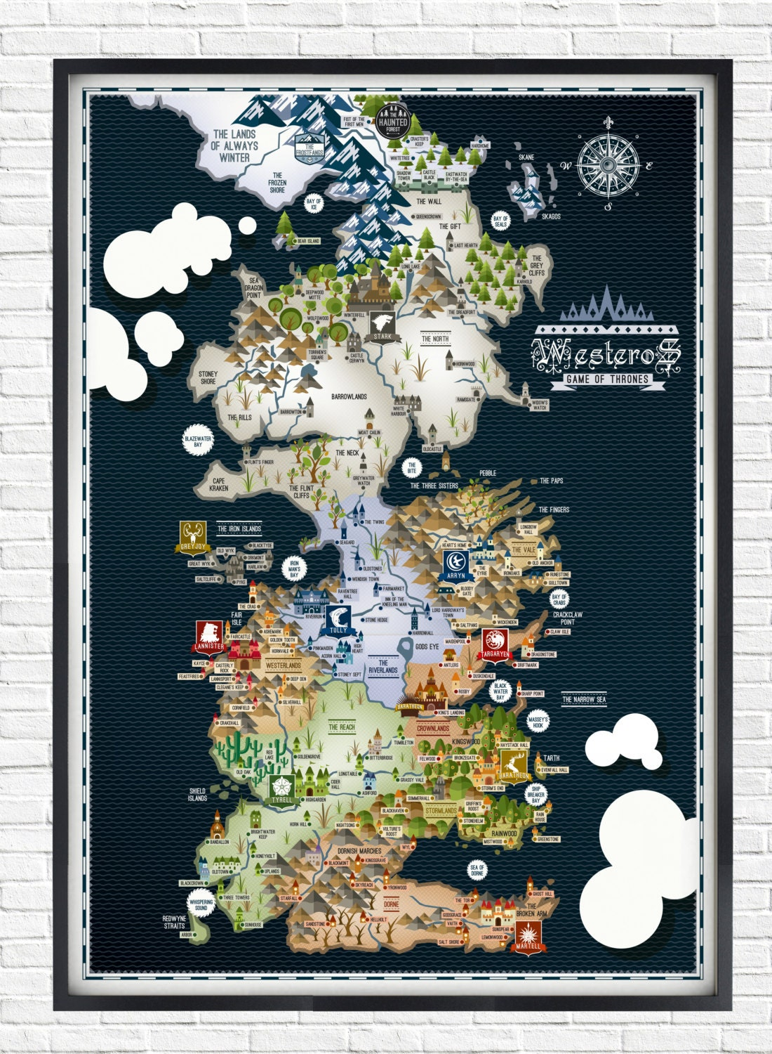 game of thrones map poster - photo #7