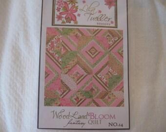 Lila Tueller Designs Quilt Pattern for Woodland Bloom Fantasy Quilt