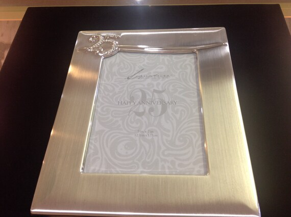 Gifts 25th Wedding Anniversary Couple: Items Similar To 25th Silver Anniversary Picture Photo