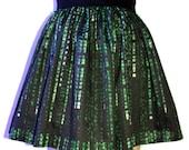 Matrix Print Full Skirt