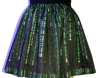 Matrix Print Full Skirt