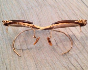 Hollywood Regency Vintage Eyewear by Bausch and Lomb Brand USA Art Deco at Ageless Alchemy