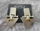Vintage Geometric Clip On Earrings Final Touch