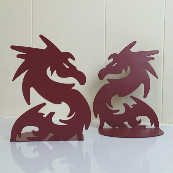 Items similar to dragon bookends on etsy - Dragon bookend ...