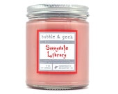 Sunnydale Library Scented Soy Candle - old books, wood, tea