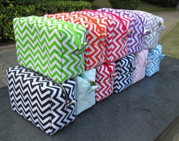 Monogrammed Travel Cosmetic Bags