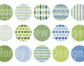Instant Download - Digital Collage Sheet - 1inch circles - 039