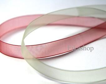 3 yards 5/8 inch 16mm Apple Green or Red Organza Ribbon (KR0040) - Fikashop