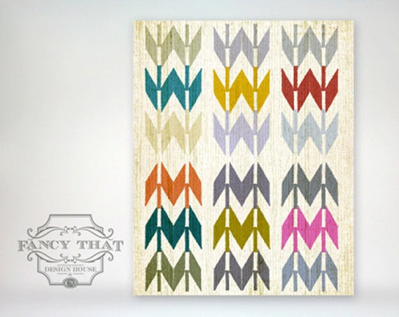 8x10 art print - Native American / Navajo Inspired - Bright, Colorful & Graphic Art Arrow Pattern Poster Print