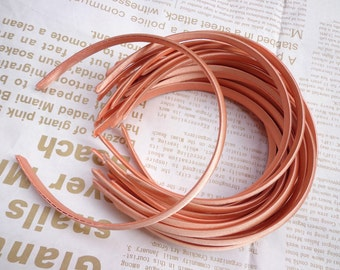 SALE--20 pcs Plastic Headband With Cloth Covered 10mm Wide