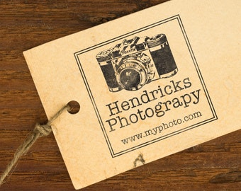 Personalized Stamp, Self Inking, Return Address Stamp, Business stamp, Photographer, Wooden Handle Stamp - FREE SHIPPING - Camera
