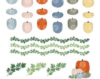 Pumpkins & Vines Clipart Collection