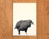 Oh black crow - A5 print