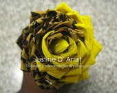 Leopard & Yellow Duct Tape Rose Pen