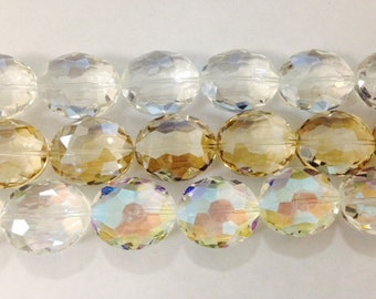 20x24mm oval shaped, faceted, chinese crystals, glass, 13beads