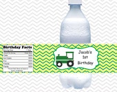 Tractor Green -  Personalized water bottle labels - Set of 5  Waterproof labels