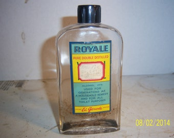 1950's Royale 5 3/8  inch cologne scent perfume bottle Ed Gerarde Chicago NY paper label