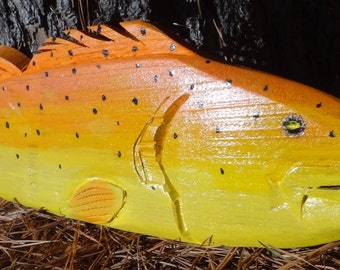SUNRISE SPECKLED TROUT wooden fish