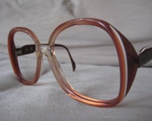 RARE Metzler Brilliant Butterfly Burnt Orange with white eyeglasses/sunglasses frames vintage 1970's 54-18-135