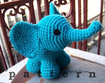 Baby Elephant-Instant Download Crochet Pattern-Toy