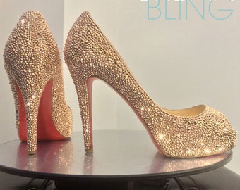 Urban Bling Christian Louboutin Very Prive Strass Strassing Custom SERVICE 35.5 36 37 38 39