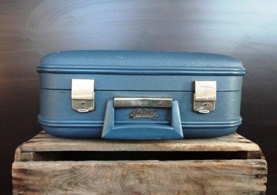 Small Vintage Suitcase - Blue