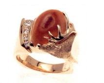 Elk Ivory Ring (Elk Ivory not supplied)