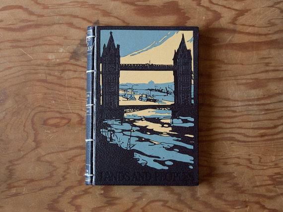tower of london bridge // vintage handmade journal // hard bound journal