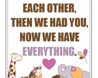 11x14 DIGITAL FILE -First We Had Each Other, CoCaLo Jacana Bedding, Nursery Print